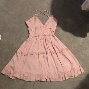 Light pink ruffle dress